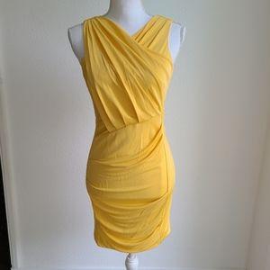Cut25 by Yigal Azrouel Cadmium Cross yellow dress